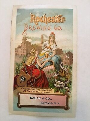 1882 Rochester Brewing Company Advertisement Card