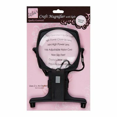 Anitas Hands Free Magnifier with Light Fully Adjustable Cord Non Slip Feet