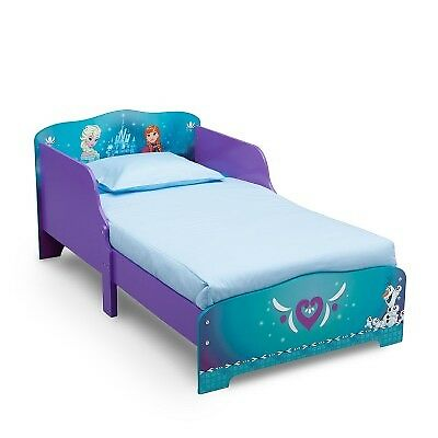 Delta Children Disney Frozen Wooden Toddler Bed with Rail, Cot Bed & Side Guards
