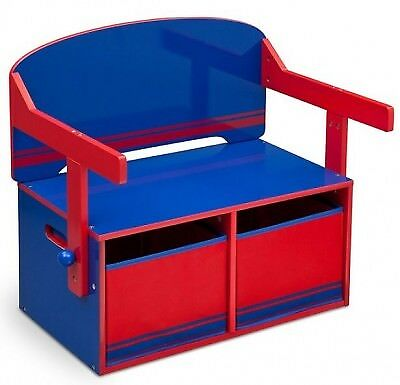 Boys 3 in 1 Bench and desk Blue and Red Suitable 2 years +