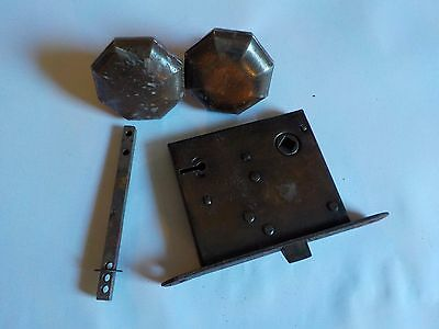 Antique Russell & Erwin Mfg Co Patent 1888 1889 Door Handle Knob Set #2