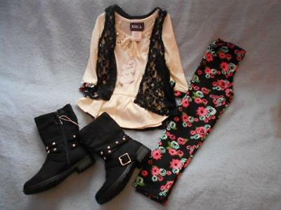 3 Pc Mixed Lot Girls Size 5 RMLA Legging Outfit with Fashion Boots Size 12 NWT
