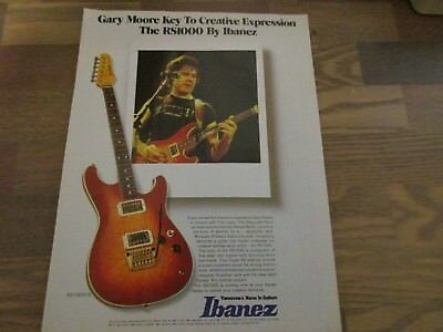 Ibanez RS1000 Electric Guitar - Gary Moore 1983 Print Ad