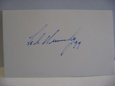 Massachusetts Senator-Presidential Candidate Ted Kennedy signed autograph 3x5