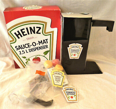 Original Heinz SAUCE-O-MAT Dispenser 2,5 Liter NEU -OVP Pumpstation