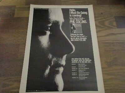 Phil Collins - Hello I Must Be Going with Tour Dates 1983 Print Ad