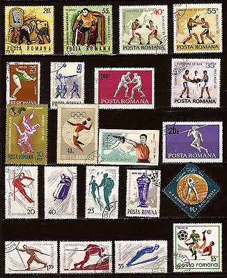 ROMANIA 21 stamps sport the various disciplines 82m135a