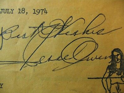JESSE OWENS SIGNED AUTOGRAPH High School TRACK AND FIELD PROGRAM