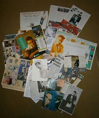 Morrissey clippings posters promo postcards True To You fanzine The Smiths