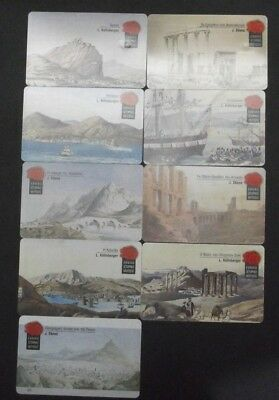 GRIECHENLAND LOT 9 PHONECARDS WITH THEME:National history museum GREECE GRECIA !