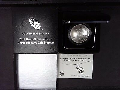 2014 Baseball Commemorative Silver Dollar Coin - Uncirculated - SHIPS FOR FREE