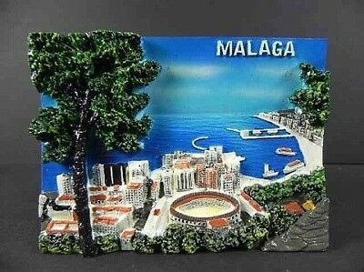 Malaga Polyresin Relief Picture Picture, Spain, 11 cm