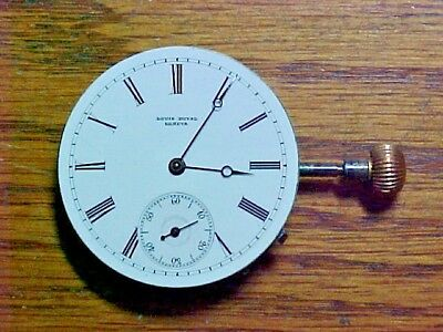 Swiss Louis Duval 33.5MM Hi-Grade Slide-Leverset Nickel Hunter Movement No Res.