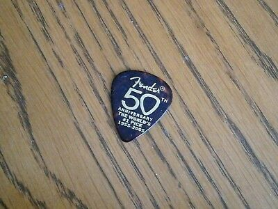 Fender 50Th Anniversary Guitar Picks Lot Of 3