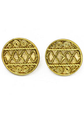 Across The Puddle 24k Gp Pre-columbian Extra Small Plain Cube Stud Earrings Fashion Jewelry