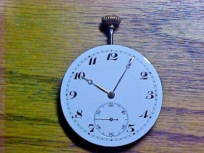 Swiss 45MM Unusual Regulator Gilt Pendantset Open Face Movement No Reserve