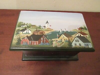 Painted Nantucket Box by Elsie M. Di Cassio