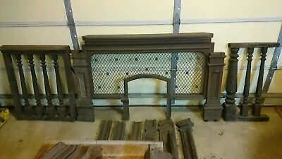 Architectural Salvage Railroad Train Depot Station Ticket Booth Window Counter