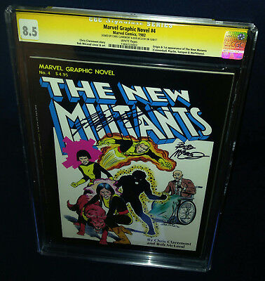 Marvel Graphic Novel New Mutants # 4 CGC 8.5 SS Claremont & McLeod 1st Print CGC