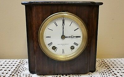 YouTube Video Antique Seth Thomas Sons & co. Wood Mantle Clock NEEDS TLC NICE