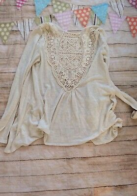 Motherhood Maternity Open Lace Crotchet Back Cardigan Light Small Suuuper Cute