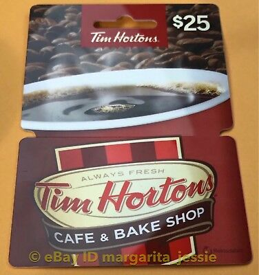 Tim Hortons Cafe & Bake Shop New Hanger Gift Card No Value New Fd53539