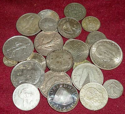 LOT of 29 EUROPEAN FOREIGN SILVER COINS, HIGH SILVER CONTENT, 173+ Gms. TW !