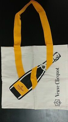 VEUVE CLICQUOT Champagne Limited Edition Canvas Shopping Tote Bag NEW