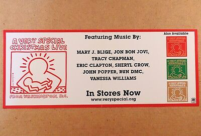KEITH HARING POSTER for A VERY SPECIAL CHRISTMAS LIVE FROM WASHINGTON D.C. LP CD