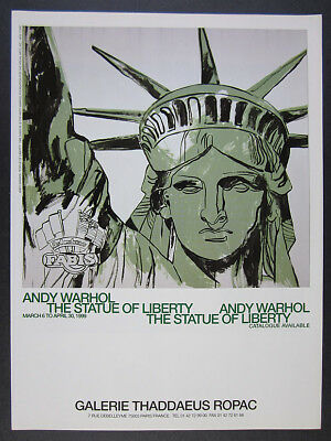1999 Andy Warhol The Statue of Liberty paris exhibition vintage print Ad