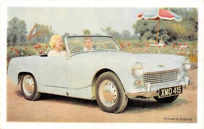 AUSTIN-HEALEY SPRITE Mk II 1961? Sports Car Vintage Automobile Ad Postcard