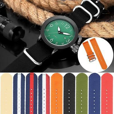Fashion Nylon Nato Strap Ballistic Durable Watch Band-Replacement 18/20/22 Hot