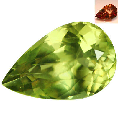 7.78Ct Sparkling Pear Cut 15 x 10 mm AAA Color Change Turkish Diaspore