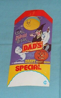 original DAD'S ROOT BEER Halloween flyer store display sign advertising