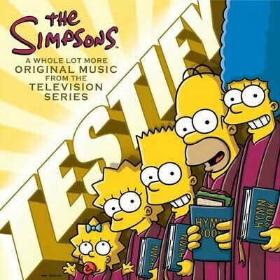 FREE US SHIP. on ANY 3+ CDs! ~Used,Good CD Various Artists: Simpsons: Testify