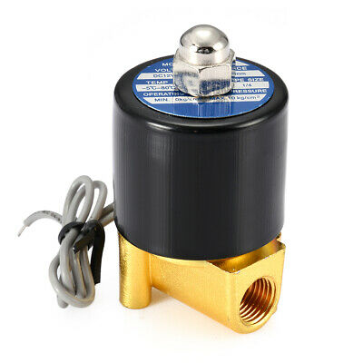 "1/4"" 2 Way N/C Electric Solenoid Valve 12V DC-Volt for Air Gas Fuel brass body"