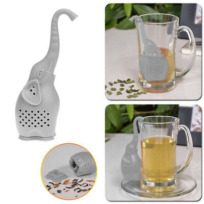 Novelty Elephant Tea Infuser Silicone Leaf Strainer Herbal Spice Filter Diffuser