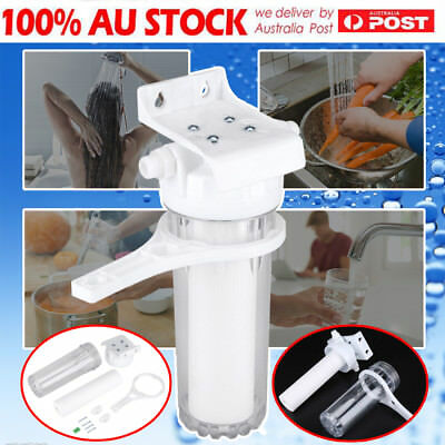 "10"" Clear Standard Whole House Water Filter System with Carbon&Sediment Filter"