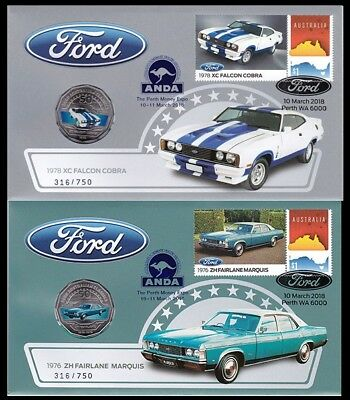 2018 Ford Zh Fairlane Marquis And Falcon Cobra Pnc Anda Foil Overprint