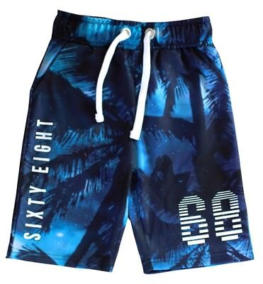 Urban 65 Outlaws Blue Ocean Theme Boy's Shorts 7-14 Years