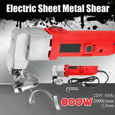 500W 220V Professional Electric Sheet Metal Shear Snip Scissor Cutter Power Tool