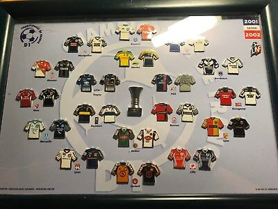 Pin Kollektion Champion de France - Saison 2001 /2002 Home and Away Pin Trikots
