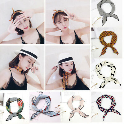 US STOCK Women Triangular Print Scarf  Headband Neckerchief Head Neck Kerchief