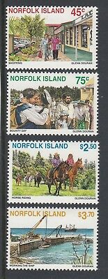 NORFOLK Island 1996 TOURISM on the Island set of 4 MNH