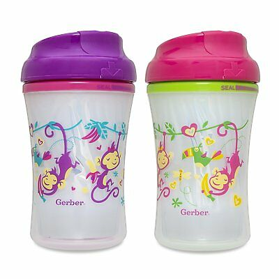 Gerber Graduates Advance Developmental Insulated Cup Like Rim Sippy Cup in and