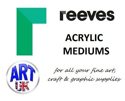 Reeves ACRYLIC MEDIUMS Artists Additives Paint Colour Tubes Gel Iridescent Paste