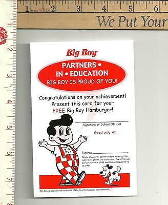 2 Big Boy Partners in education cards see scans