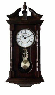 Wall Clocks: Grandfather Wood Wall Clock with Chime. Pendulum Wood Traditional a