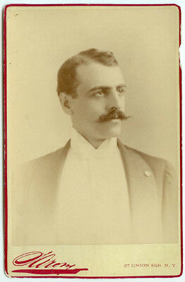 RARE VINTAGE THEATRICAL VAUDEVILLE Sarony Cabinet Card of Actor- Eugene Claudice