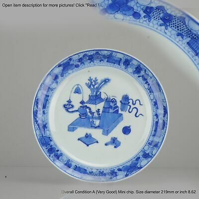 Antique Chinese Plate Qing Dynasty 19th c Jiaqing or Daoguang Porcelain